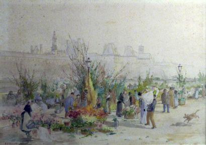 Gustave FRAIPONT (1849-1923)  Le marché aux...