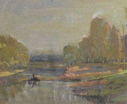 Michel LOCHE (XIX-XXe siècle)  Rivière -...