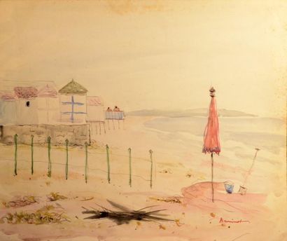 ARMINOT (XXe siècle)  La plage - La dune...