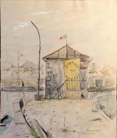 ARMINOT (XXe siècle)  Secours aux noyés -...