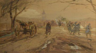 Eugène Louis GILLOT(1867/68-1925)  Scènes de la Première Guerre Mondiale  Suite...