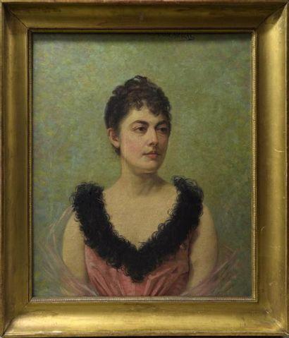 Marie NICOLAS (XIXe - XXe siècle)  Portrait...