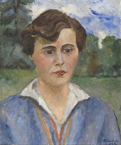 Fanny BUNAND-SEVASTOS (1905-1998)  Portrait...