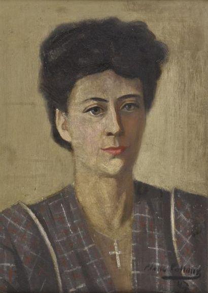 Pierre PELLOUX (1903-1975)  Portrait d'une...