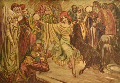 Adrien GODIEN (1873-1949)  Esmeralda  Gouache...
