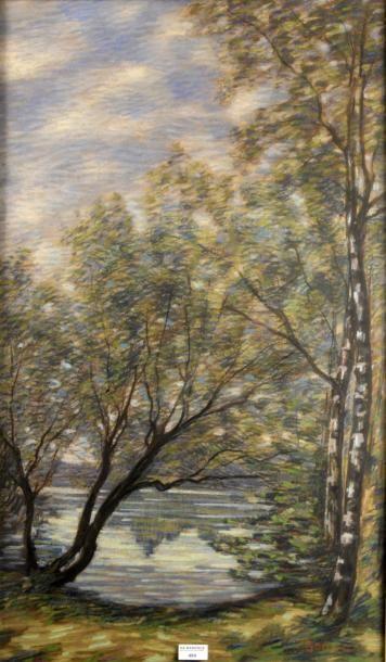 Adrien GODIEN (1873-1949)  Les bouleaux au...