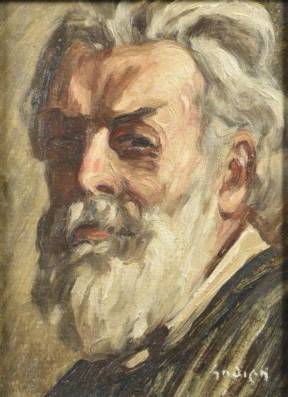 Adrien GODIEN (1873-1949)  Autoportrait  Huile...