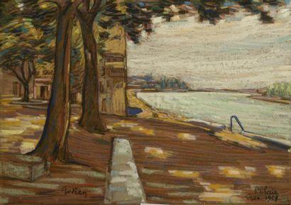 Adrien GODIEN (1873-1949)  Les quais de Saint...