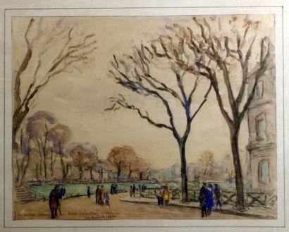 Raymond GAUDET (XXe siècle)  Parc à Grenoble...