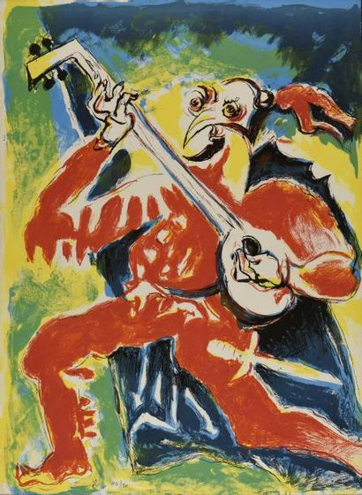 Édouard PIGNON (1905-1993)  Joueur de mandoline...