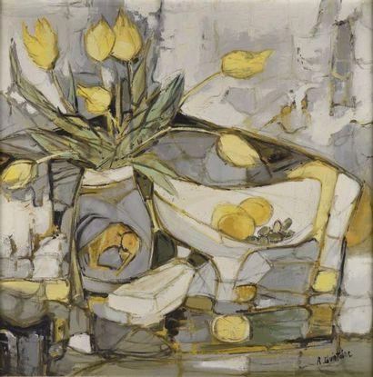 Roger QUINTAINE (1921-2005)  Blancs et jaunes...