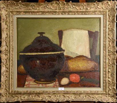 Marcel ROCHE (1890-1959)  La soupière brune...