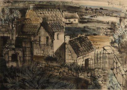 Robert WOGENSKY (né en 1919)  Paysage de...