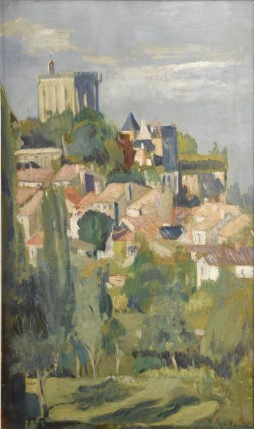 Josée BIZARDEL (XXe siècle)  Donjon et village...