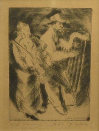 JACQUEMIN André (1904-1992)  Les musiciens...