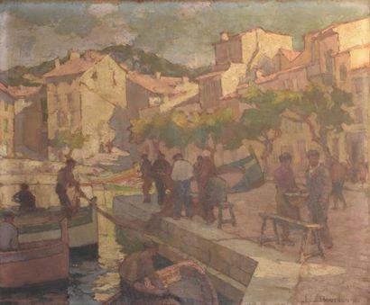 Julien Léon BOURDON (1880-1946)  Port de...