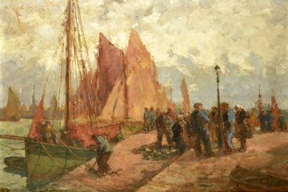 Julien Léon BOURDON (1880-1946)  Les Sables...