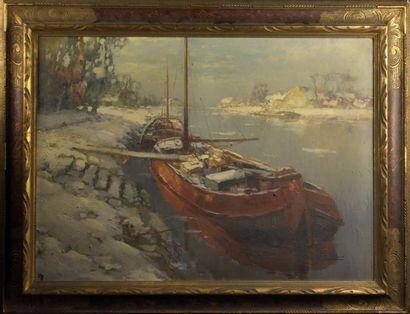Kees TERLOUW (1890-1948)  Voilier sur le...