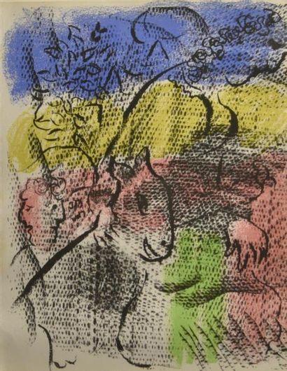 Marc CHAGALL (1887-1985)  Sans titre  Lithographie...