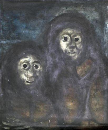 EVARISTO (1923-2009)  Deux personnages dans...