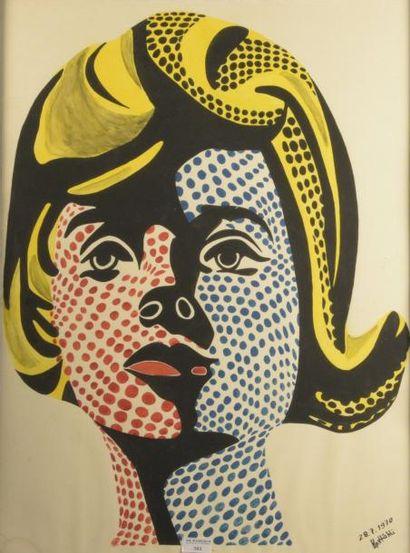 École Pop art dans l'esprit de Roy LICHTENSTEIN...