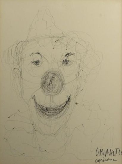 Gérard GOUVRANT (né en 1946)  Tête de clown...