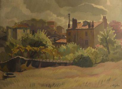 Jacques LAPLACE (1890-1955)  Jardin  Huile...