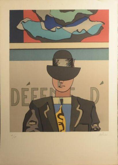 Jean HÉLION (1904-1987)  Homme au chapeau...