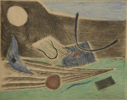 Henri GOETZ (1909-1989)  Composition  Lithographie...