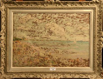 Auguste-Michel COLLE (1872-1949)  Plage en...
