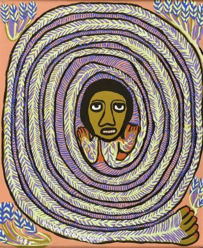 Prosper PIERRE-LOUIS (1947-1997)  Le serpent...