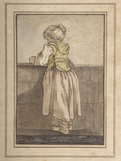 Ecole FRANCAISE du XVIIIe siècle Petite fille...