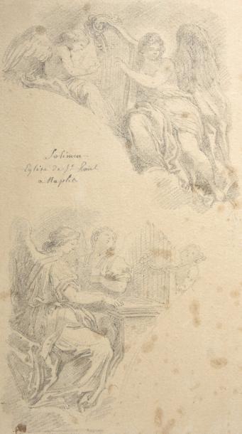 Jean-Honoré FRAGONARD (1732-1806) Anges musiciens...