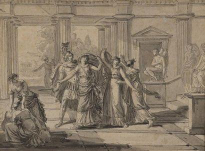 Ecole FRANCAISE du XVIIIe siècle Scène mythologique...