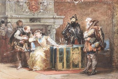 Eugène Louis LAMI (Paris 1800-1890) Marie...