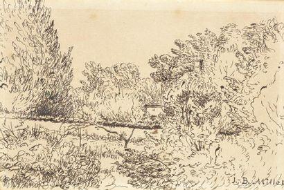 Jean-Baptiste MILLET (1831-1906) Paysage...
