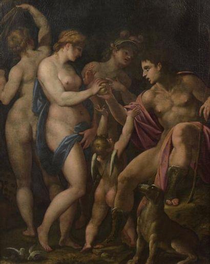Ecole ITALIENNE du XVIIe siècle Le jugement...