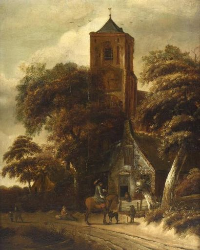 Ecole néerlandaise de la fin du XVIIe, dans...