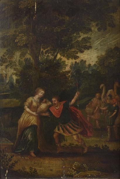 Ecole FLAMANDE, vers 1640 David et Abigaïl...