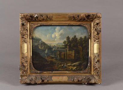 Marc BAETS (école Flamande vers 1700) Paysans...