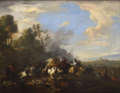 Jan Van HUCHTENBURGH (1647-1733) Choc de...