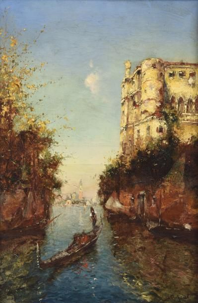 Ecole française du XIXe siècle Vue de Venise...