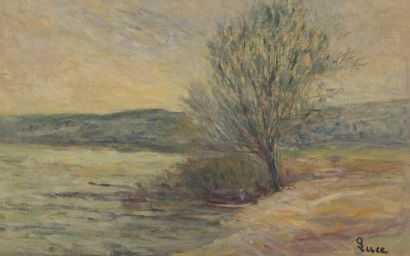 Maximilien LUCE (1858-1941) Bord de rivière...