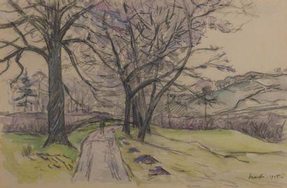 Maxime MAUFRA (1861-1918) Chemin de campagne...