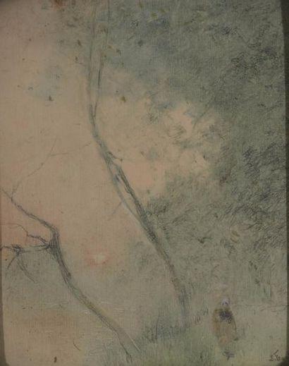 Lucien FRANCK (1857-1920) Promeneuse