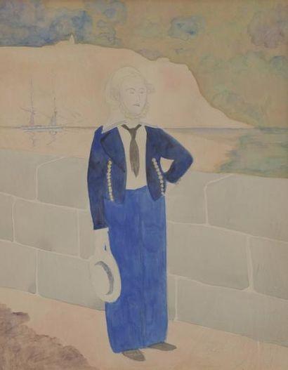 Léon SPILLIAERT (1881-1946) Le marin Crayon...