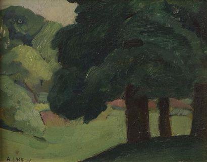 André LHOTE (1885-1962) Paysage symboliste,...