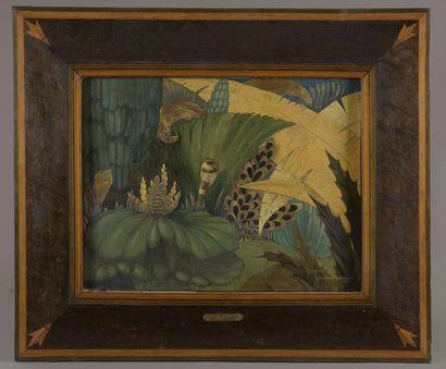 Albert-Louis DAPOIGNY (1885-?) Cobra Panneau...