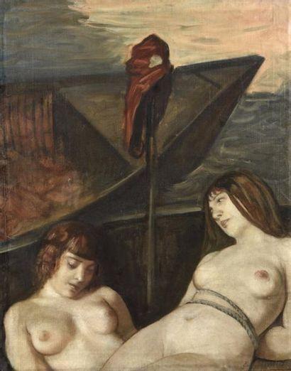 Emile Henri BERNARD (1868-1941) Les noyades...