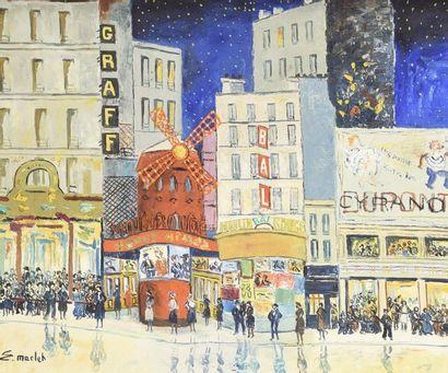 Elisée MACLET (1881-1962) Le moulin rouge...